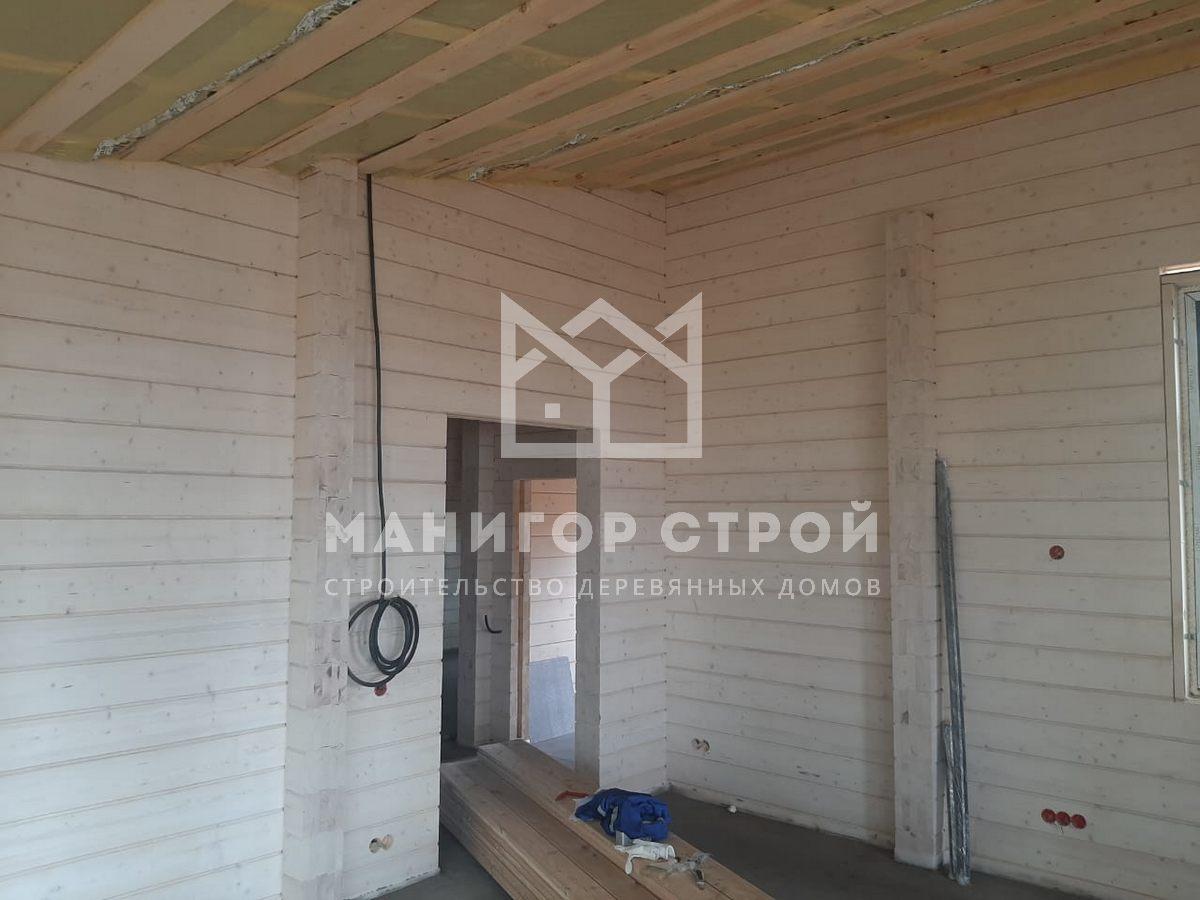 Гостевой дом-баня из клееного бруса 110 кв.м.